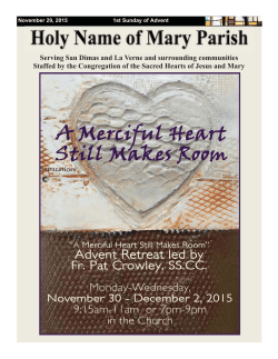 November 29, 2015 - Holy Name of Mary Parish