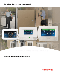 Honeywell Control Panels, FOR RESIDENTIAL AND COMMERCIAL