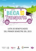 LISTA DE BENEFICIADOS DEL PRIMER SEMESTRE DEL 2015