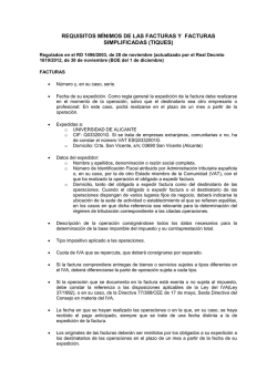 requisitos minimos de las facturas