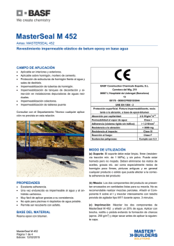 MasterSeal M 452 - BASF Construction Chemicals Españ
