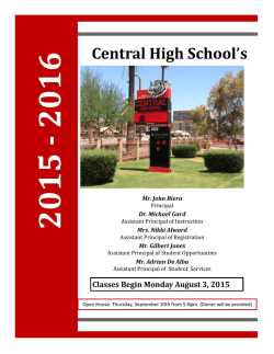 2015 - 2016 Central High School`s