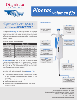 Pipetas volumen fijo