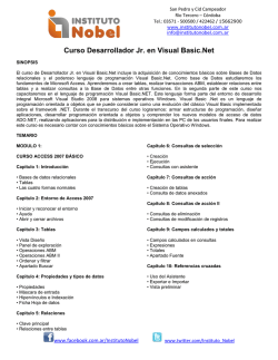 Curso Desarrollador Jr. en Visual Basic.Net