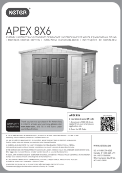 APEX 8X6 - Sheds For Less Direct