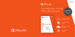 Este dispositivo incluye Office 365 Personal.