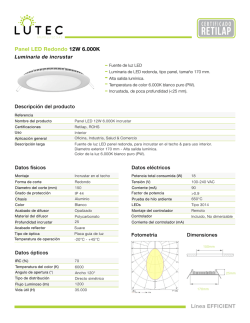 Panel LED Redondo 12W 6.000K Línea EFFICIENT