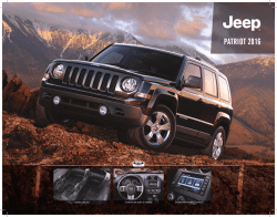 PATRIOT 2016 - Jeep México