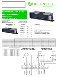 SUBMITTAL FAN & COIL AGUA HELADA (Agosto 03, 205)
