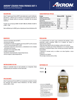 FT - Liquido para Frenos DOT 4 - 06112015