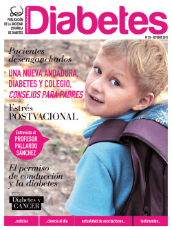 Estrés POSTVACIONAL - Revista Diabetes 36