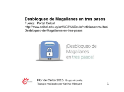 Tutorial Desbloqueo de Magallanes