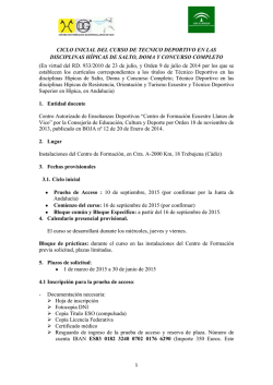 Convocatoria ciclo inicial y final. PRES[...]