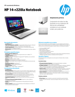 HP 14-r220la Notebook