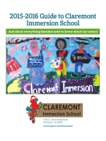 2015-2016 Guide to Claremont Immersion School