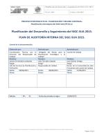 Plan de Auditoría Interna del SIGC-SUA 2015