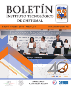 Boletin-2015 DIGITAL - Instituto Tecnológico de Chetumal