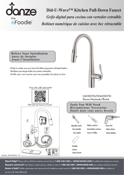 Did-U-Wave™ Kitchen Pull-Down Faucet Grifo digital para cocina