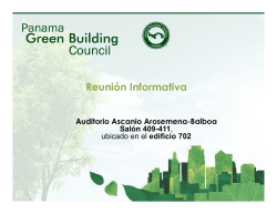 Reunión Informativa - Panama Green Building Council