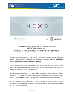 Convocatoria Nexo Global