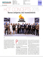 Hot concepts 2015 España, en Restauración News.