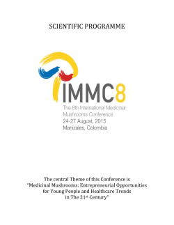 scientific programme - The 8th International Medicinal Mushroom
