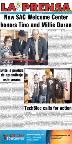TechBloc calls for action - La Prensa De San Antonio
