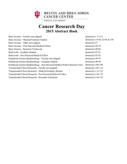CRD Abstract Book 2015 - Indiana University Cancer Center