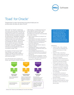 Toad™ for Oracle®