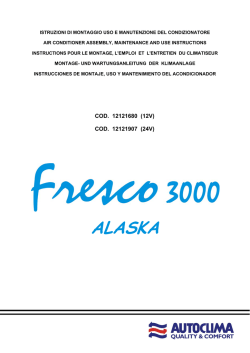 Fresco 3000 Alaska Back Montageanleitung