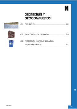 Geotextiles y geocompuestos