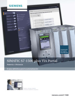 SIMATIC S7-1500 plus TIA Portal