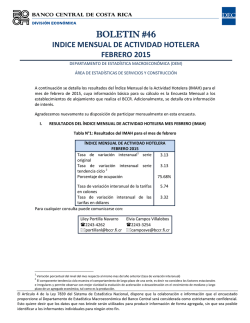 BOLETIN #46 - Banco Central de Costa Rica