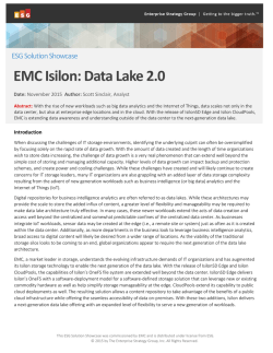 EMC Isilon: Data Lake 2.0