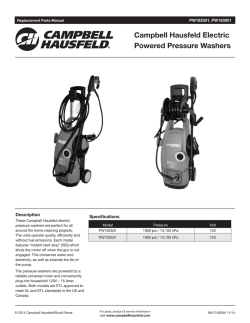 Campbell Hausfeld Electric Powered Pressure Washers