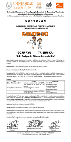 Convocatoria Karate Do - Deportes U.A.T.