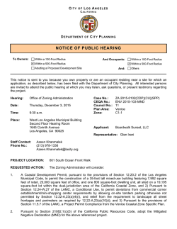 notice of public hearing - Los Angeles Department of City Planning