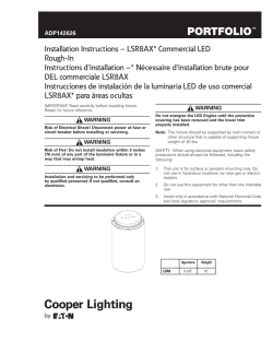 Installation Instructions – LSR8AX* Commercial LED Rough