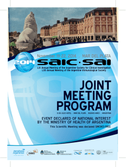 Scientific Program - SAIC