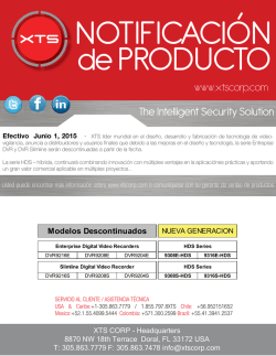 Notification de Producto- Enterprise and SlimlineSeries