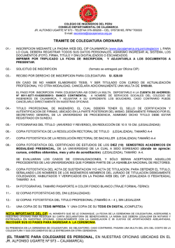 Requisitos de Colegiatura en formato PDF