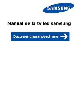 Manual de la tv led samsung