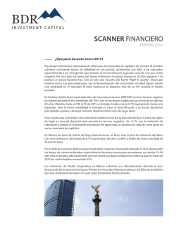 Febrero 2016 - BDR Investment Capital