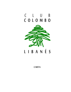 carta - Club Colombo Libanes