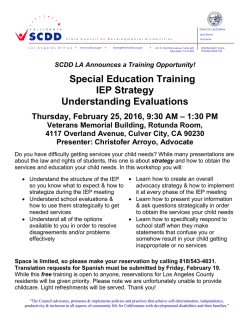 Special Education Training IEP Strategy Understanding Evaluations