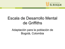 Escala de Desarrollo Mental de Griffiths
