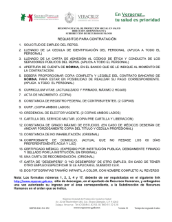 Formato Requisitos para Contratación.