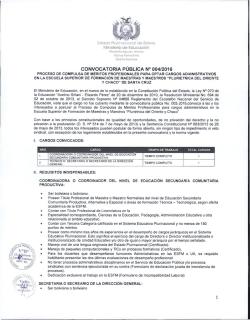 Convocatoria dgfm ministerio de educaci n Convocatoria docentes 2016 ministerio de educacion