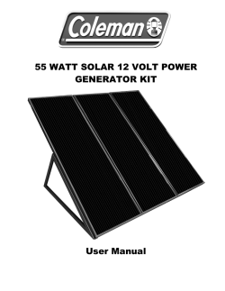 60W Coleman Solar Kit - SunForce Products Inc.
