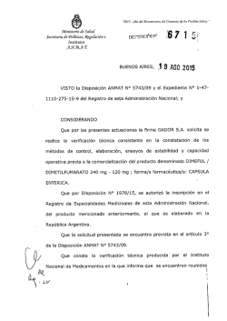 Disposición 6715 - 15